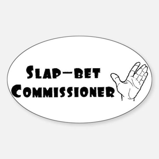 Slap-Bet Commissioner Oval Decal