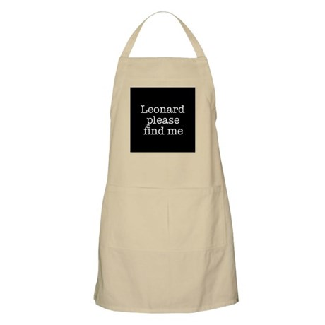 Leonard please find me (text) BBQ Apron