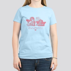 Angels Women's Light Pink T-Shirt