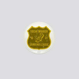 Social Worker Drinking League Mini Button