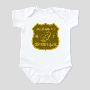 Social Worker Drinking League Infant Bodysuit