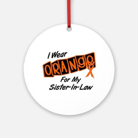 I Wear Orange For My Sister-In-Law 8 Ornament (Rou