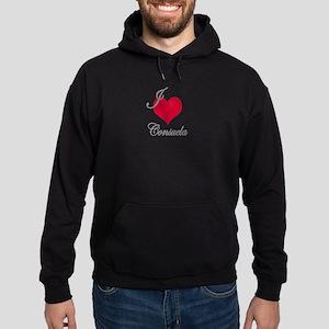 I love (heart) Consuela Hoodie (dark)