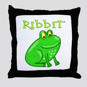 Ribbit Throw Pillow