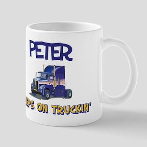 Peter Keeps on Truckin Mug