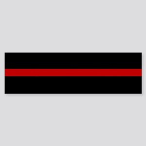 Firefighter Thin Red Line Bumper Sticker