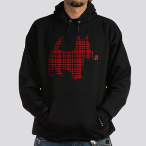 Scottish Terrier Tartan Hoodie (dark)