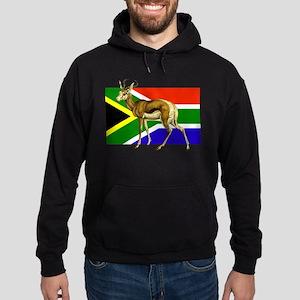 South Africa Springbok Flag Hoodie (dark)