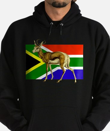 South Africa Springbok Flag Hoodie (dark)