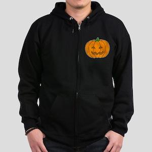 Jack O Lantern Zip Hoodie (dark)