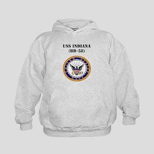 USS INDIANA Kids Hoodie