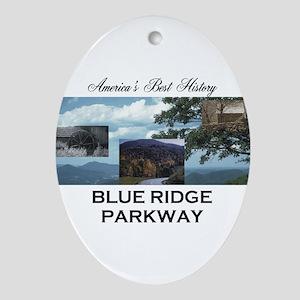 Blue Ridge Americasbesthistory.com Oval Ornament