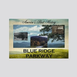 Blue Ridge Americasbesthistory.co Rectangle Magnet