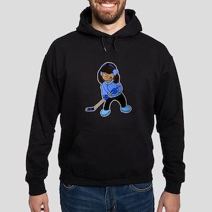 Black Hockey Girl Hoodie (dark)