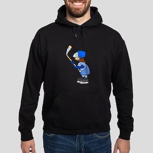 Ice Hockey Chick Hoodie (dark)