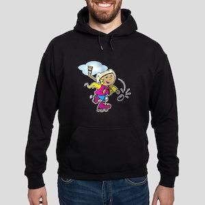 Cute Hockey Girl Hoodie (dark)