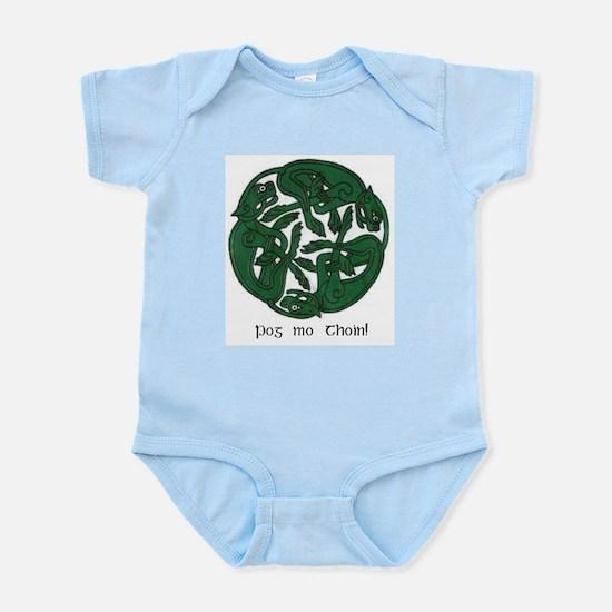 """""""Pog Mo Thoin Celtic Design"""" Infant Creeper"""