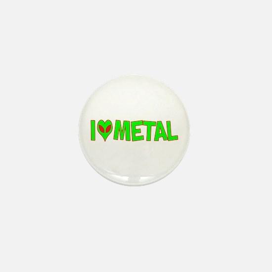 I Love-Alien Metal Mini Button
