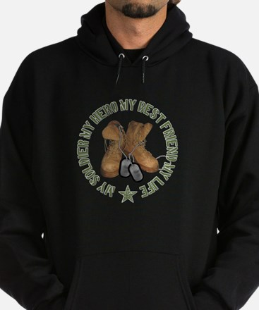 My Soldier, My Hero, My Best Hoodie (dark)