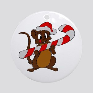 Christmas Mouse Ornament (Round)
