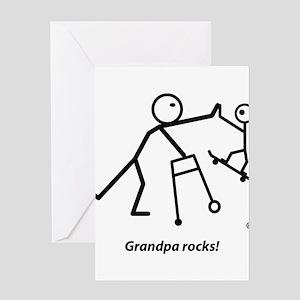 Grandpa rocks! Greeting Card