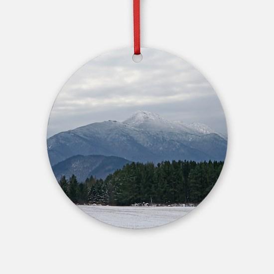 Scenic Adirondack Winter Ornament (Round)