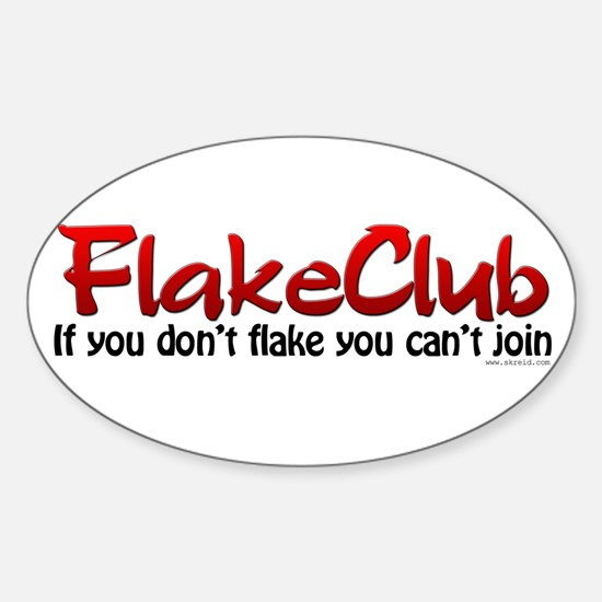 Psoriais, Flakeclub Oval Decal