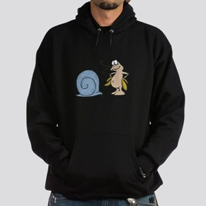 Hermit Crab Out of His Shell Hoodie (dark)