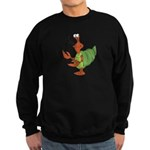 Silly Happy Hermit Crab Sweatshirt (dark)
