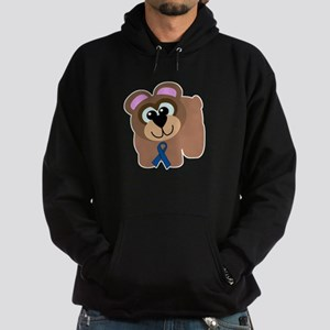 Blue Awareness Ribbon Goofkin Hoodie (dark)