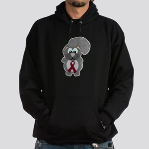 Burgundy Awareness Ribbon Squ Hoodie (dark)