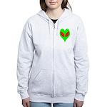 Alien Heart Women's Zip Hoodie