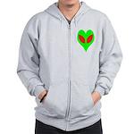Alien Heart Zip Hoodie