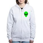 Alien Head Women's Zip Hoodie