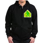 Alien Crossing Zip Hoodie (dark)