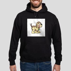 Cute Country Style Puppy Dog Hoodie (dark)