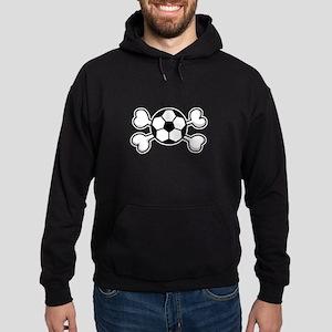 Soccer Ball Crossbones Design Hoodie (dark)