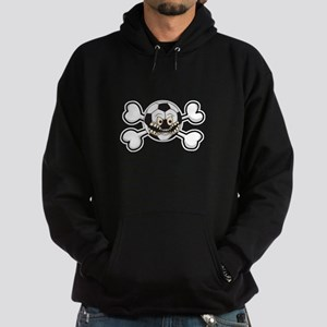 Angry Soccer Ball Crossbones Hoodie (dark)