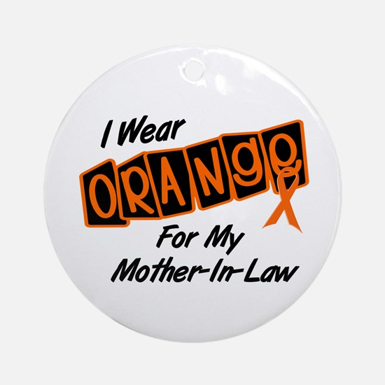 I Wear Orange For My Mother-In-Law 8 Ornament (Rou