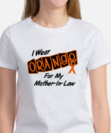 I Wear Orange For My Mother-In-Law 8 Women's T-Shi