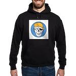 Colored Pirate Skull Hoodie (dark)