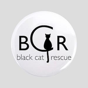 """Black Cat Rescue 3.5"""" Button"""