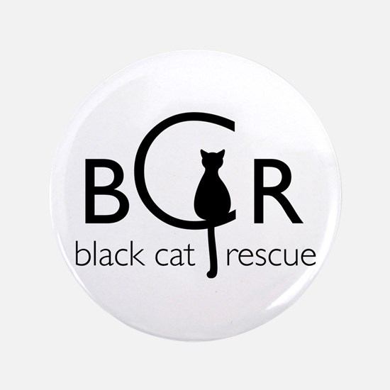 "Black Cat Rescue 3.5"" Button"