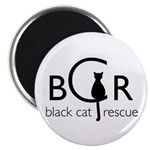 Black Cat Rescue Magnet