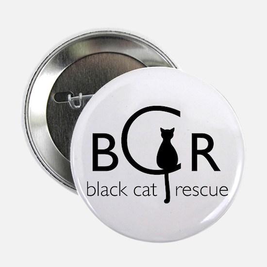 """Black Cat Rescue 2.25"""" Button"""