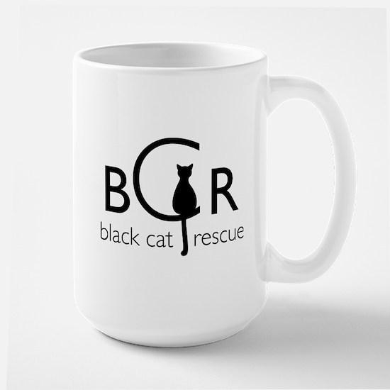 Black Cat Rescue Large Mug