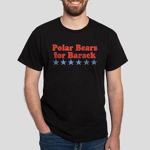Polar Bears For Barack Dark T-Shirt
