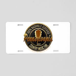 Pennsylvania Country Music Aluminum License Plate