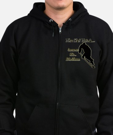 The Hat Trick Zip Hoodie (dark)