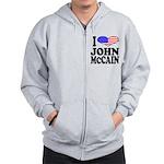 I Love John McCain Zip Hoodie